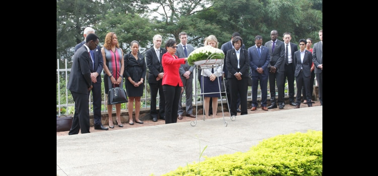 Secretary of Commerce Penny Pritzker visited the Genocide Memorial
