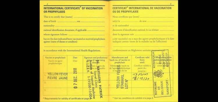 Yellow Fever Vaccination Required for Entry into Rwanda