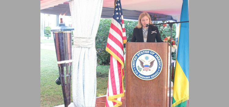 Ambassador Erica Barks-Ruggles giving her remarks