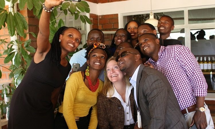 Selfie with 2016 YALI Fellows